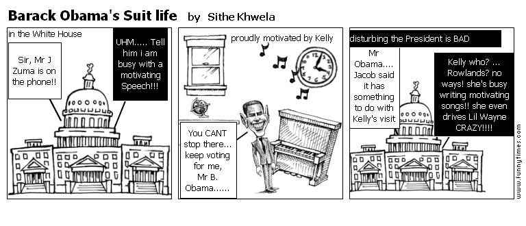 Barack Obama's Suit life by Sithe Khwela