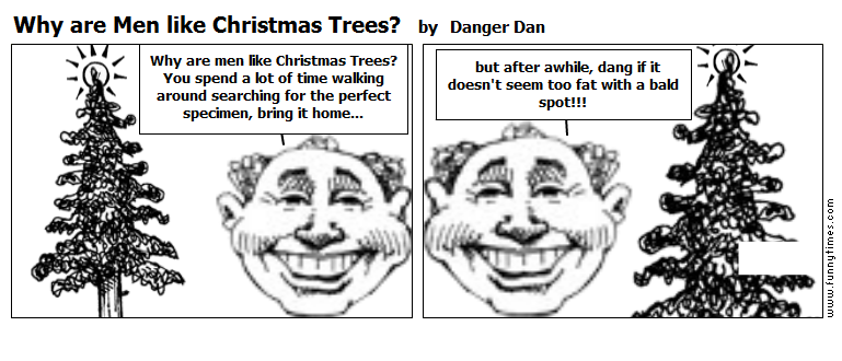 Why are Men like Christmas Trees by Danger Dan