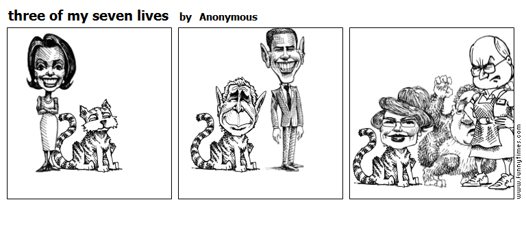 three of my seven lives by Anonymous