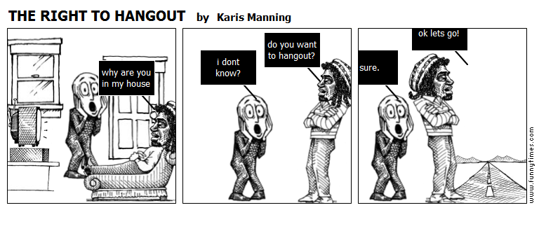 THE RIGHT TO HANGOUT by Karis Manning