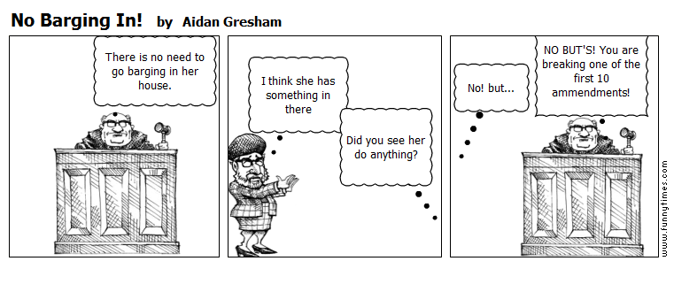 No Barging In by Aidan Gresham