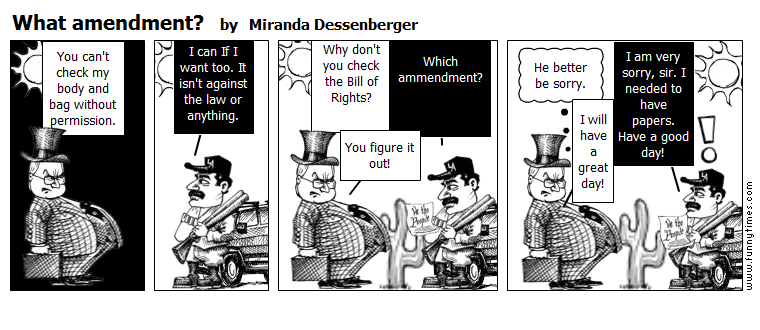 What amendment by Miranda Dessenberger