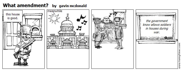 What amendment by gavin mcdonald