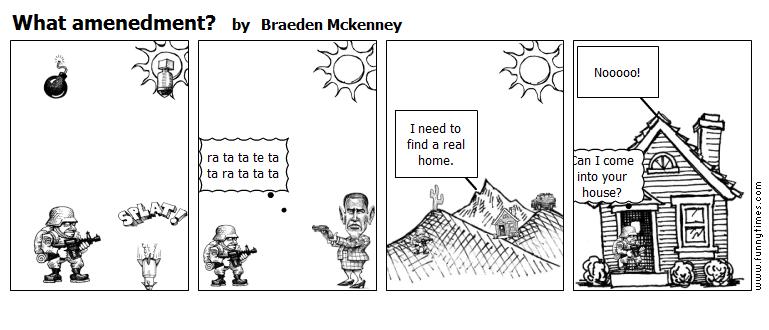 What amenedment by Braeden Mckenney