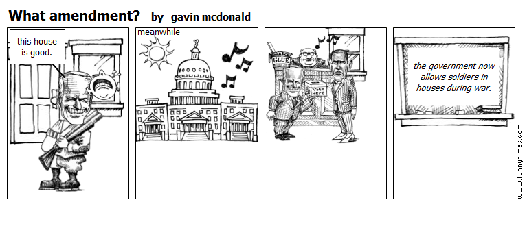 What amendment by gavin mcdonald