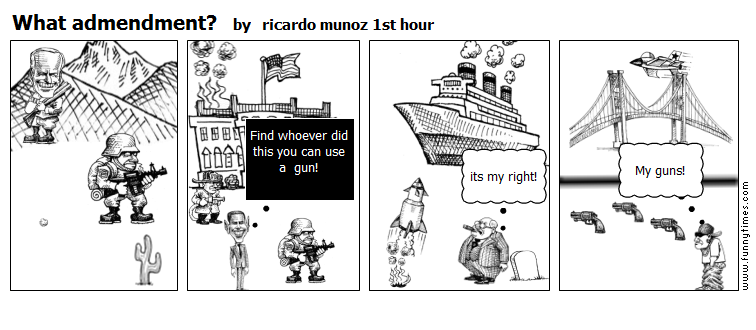 What admendment by ricardo munoz 1st hour