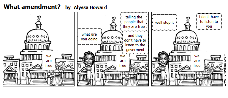 What amendment by Alyssa Howard