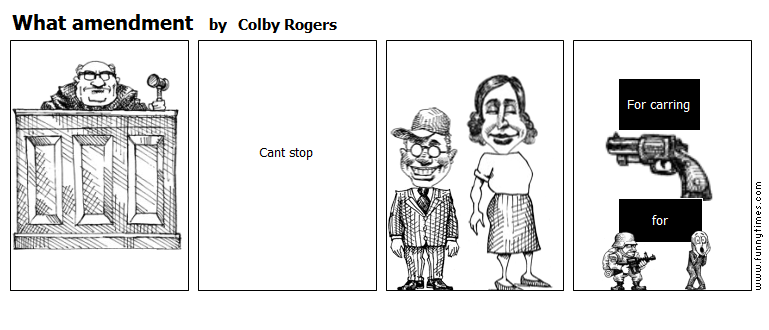 What amendment by Colby Rogers
