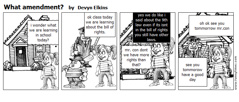 What amendment by Devyn Elkins