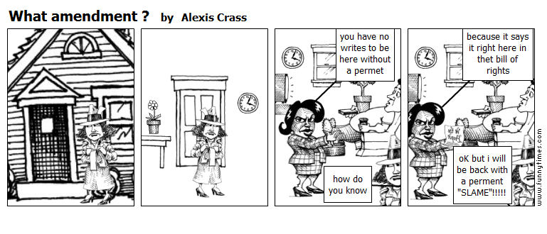 What amendment  by Alexis Crass