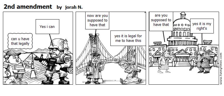 2nd amendment by jorah N.