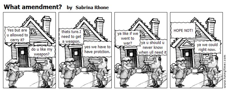 What amendment by Sabrina Rhone