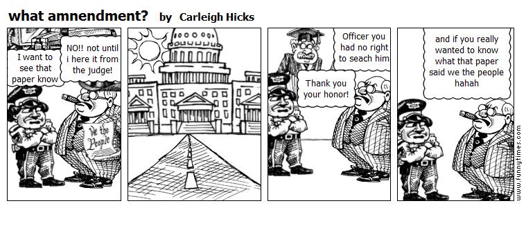 what amnendment by Carleigh Hicks