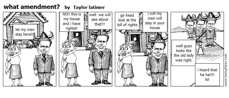 what amendment by Taylor latimer