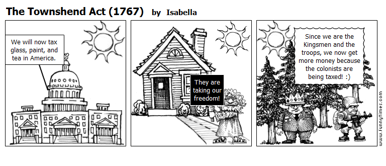 The Townshend Act 1767 by Isabella