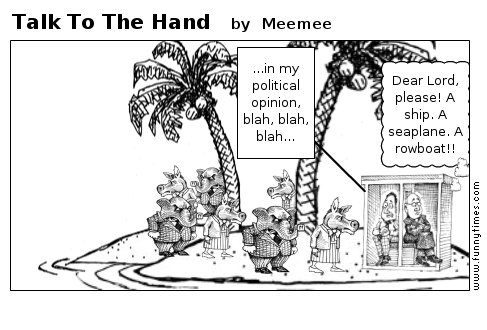 Talk To The Hand by Meemee
