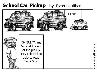 School Car Pickup by Evan Houlihan