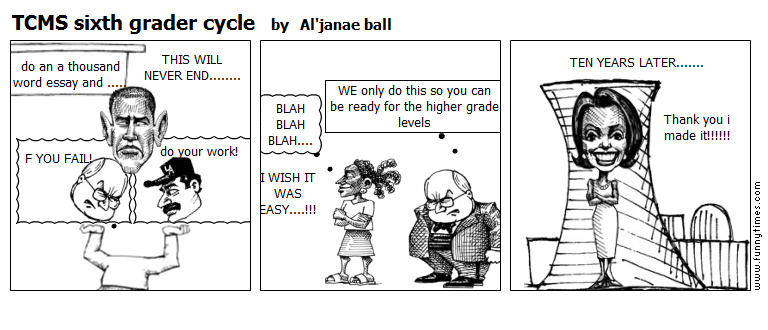 TCMS sixth grader cycle by Al'janae ball