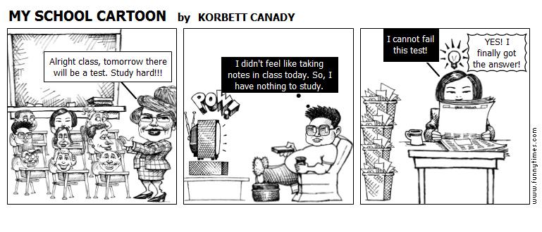 MY SCHOOL CARTOON by KORBETT CANADY