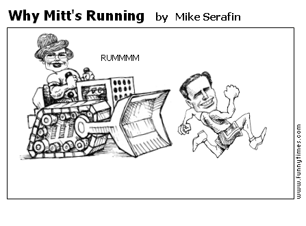 Why Mitt's Running by Mike Serafin