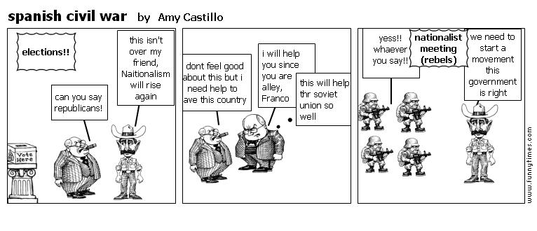 spanish civil war by Amy Castillo