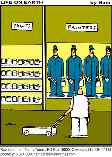 Funny parents cart shopping  cartoon, September 28, 2011