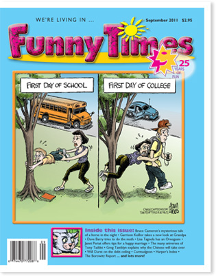 Funny Times September 2011 Issue Cover