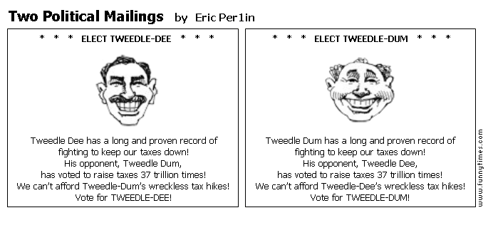Two Political Mailings by Eric Per1in