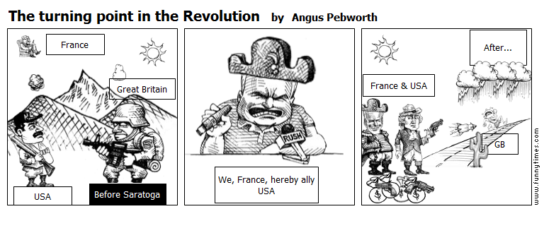 The turning point in the Revolution by Angus Pebworth