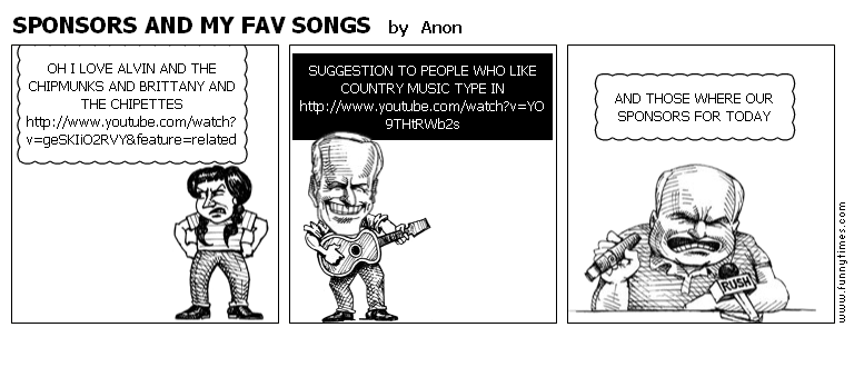 SPONSORS AND MY FAV SONGS by Anon