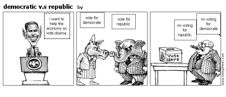 democratic v.s republic by