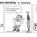 Socalist Cartoon Military Spending