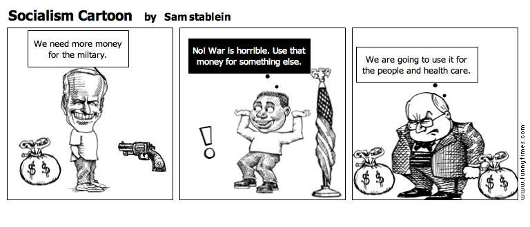 Socialism Cartoon by Sam stablein