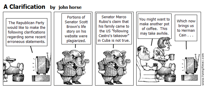 A Clarification by john horse