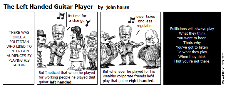 The Left Handed Guitar Player by john horse