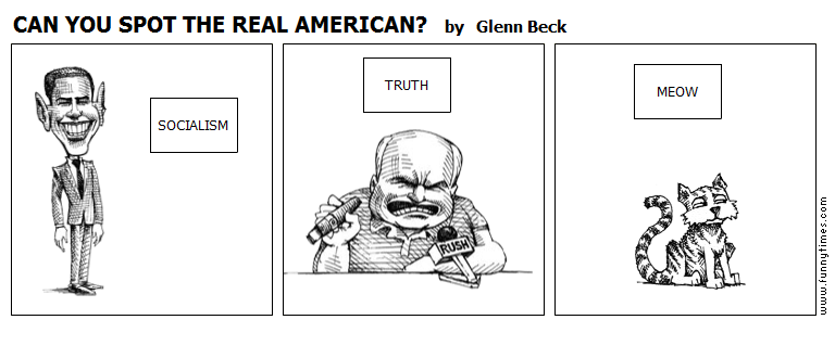 CAN YOU SPOT THE REAL AMERICAN by Glenn Beck