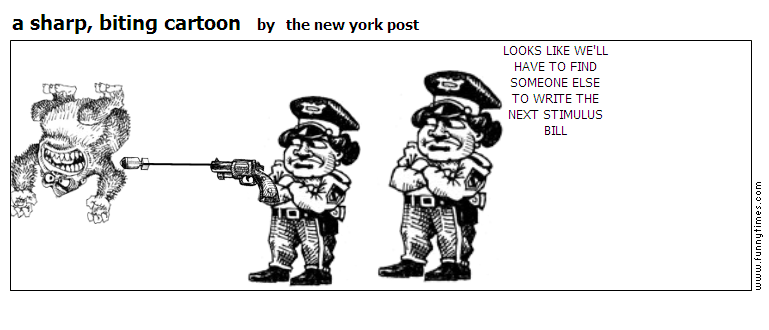 a sharp, biting cartoon by the new york post