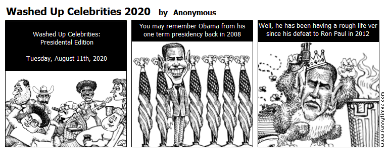 Washed Up Celebrities 2020 by Anonymous