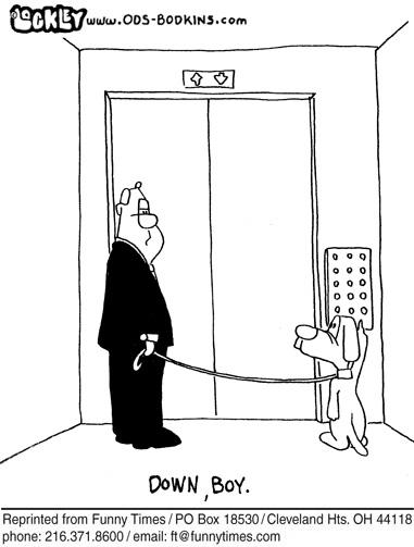 Funny dog lockley man  cartoon, October 26, 2011