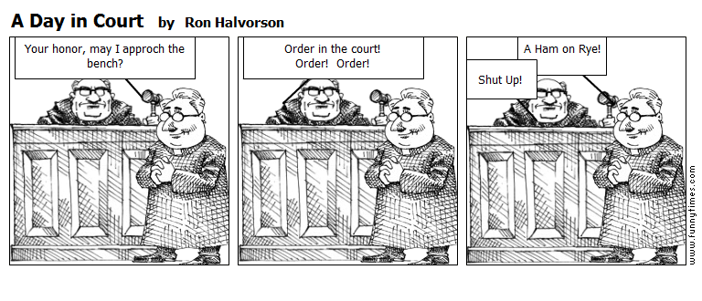 A Day in Court by Ron Halvorson