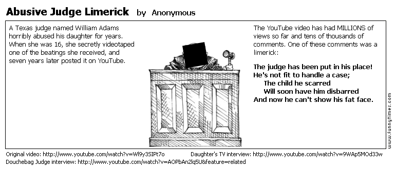 Abusive Judge Limerick by Anonymous