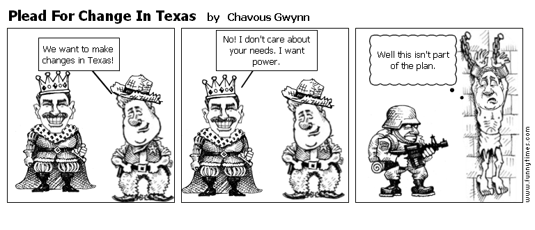 Plead For Change In Texas by Chavous Gwynn