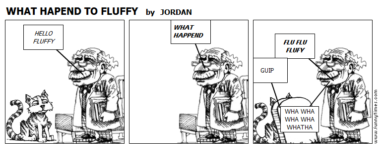 WHAT HAPEND TO FLUFFY by JORDAN