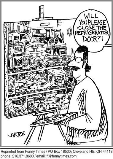 Funny food life groceries cartoon, November 23, 2011