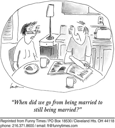 Funny marriage death love  cartoon, November 30, 2011