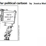 Ending Civil War political cartoon