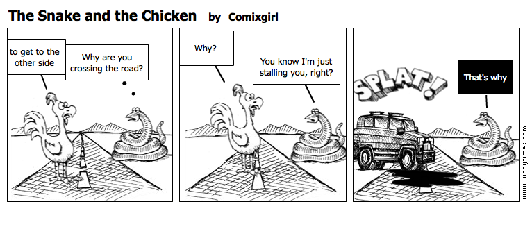The Snake and the Chicken by Comixgirl