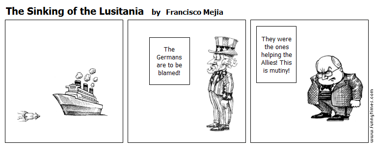 The Sinking of the Lusitania by Francisco Mejia