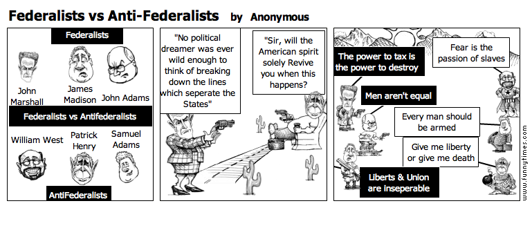 Federalists vs Anti-Federalists by Anonymous