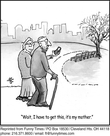 Funny parents phone cell  cartoon, December 07, 2011
